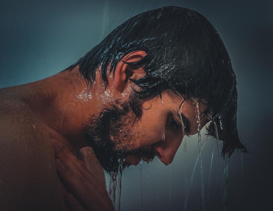 ducha, hombre ducha, hombre en la ducha, persona ducha